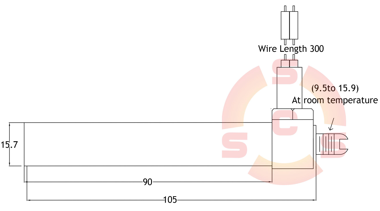 Block Head Thermostat Dimensions
