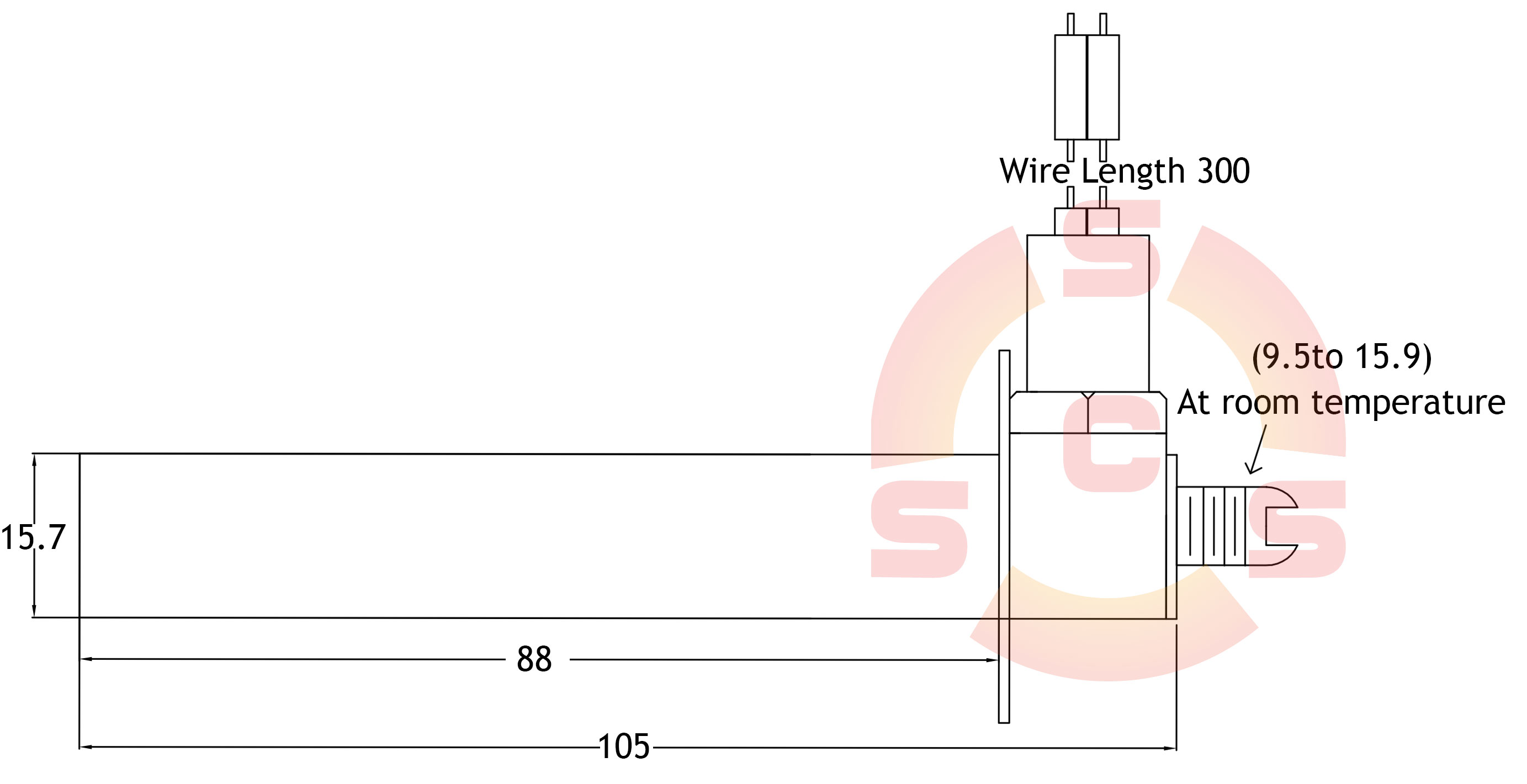 Coupling Head Thermostat Dimensions