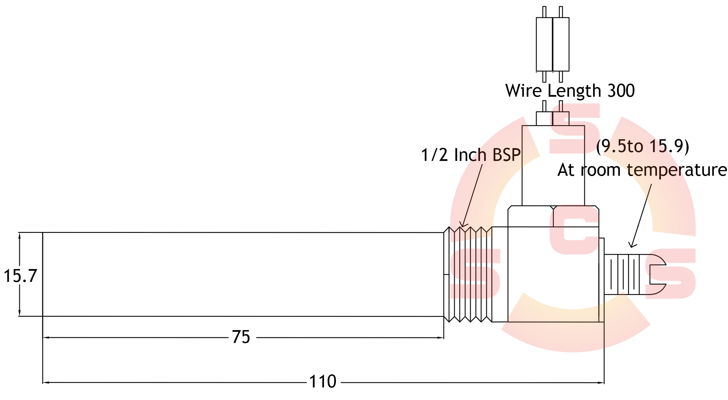 Hex Head Thermostat Dimensions